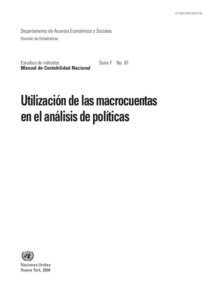 ST/ESA/STAT/SER.F/81Departamento de Asuntos Económicos y SocialesDivisión de EstadísticasEstudios de métodos              ...