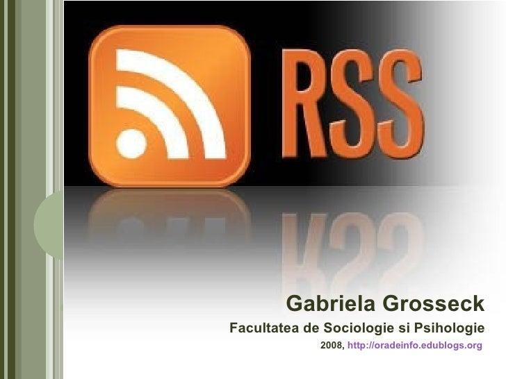 Gabriela Grosseck Facultatea de Sociologie si Psihologie 2008,  http://oradeinfo.edublogs.org