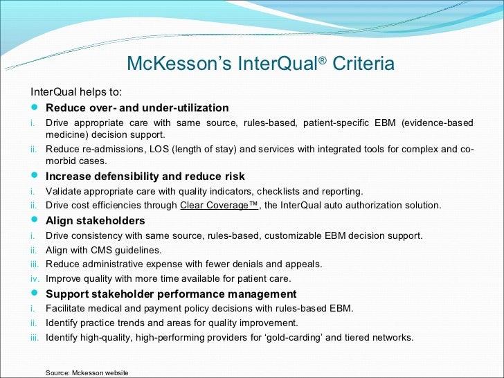 utilization management rh slideshare net level of care guidelines (i.e. milliman interqual etc.) Level of Development