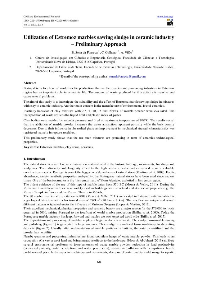 Civil and Environmental Research www.iiste.org ISSN 2224-5790 (Paper) ISSN 2225-0514 (Online) Vol.3, No.9, 2013 68 Utiliza...