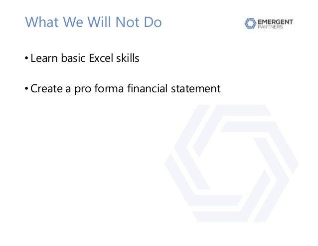 Utilizing Pro Forma Modeling In Excel