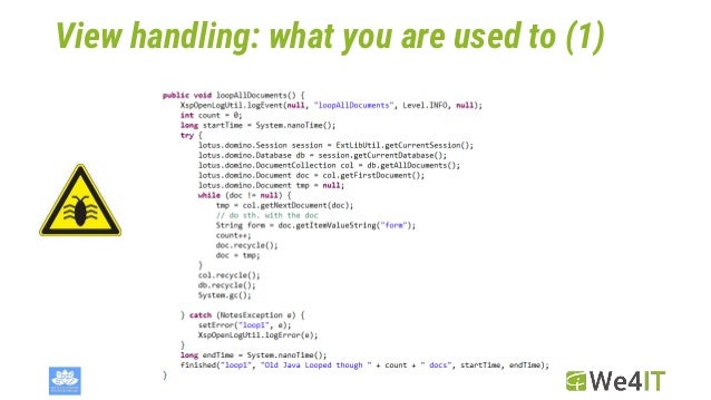 View handling: what you are used to (1)