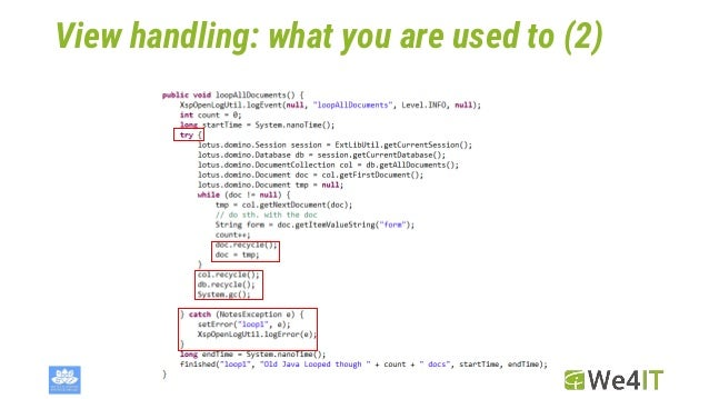 View handling: what you are used to (2)