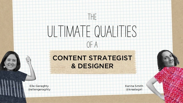 Elle Geraghty @ellengeraghty THE ULTIMATE QUALITIES