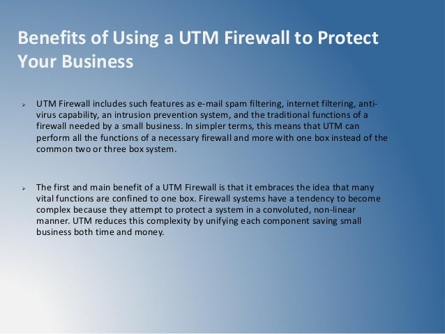 Utm Unified Threat Management Security Solutions