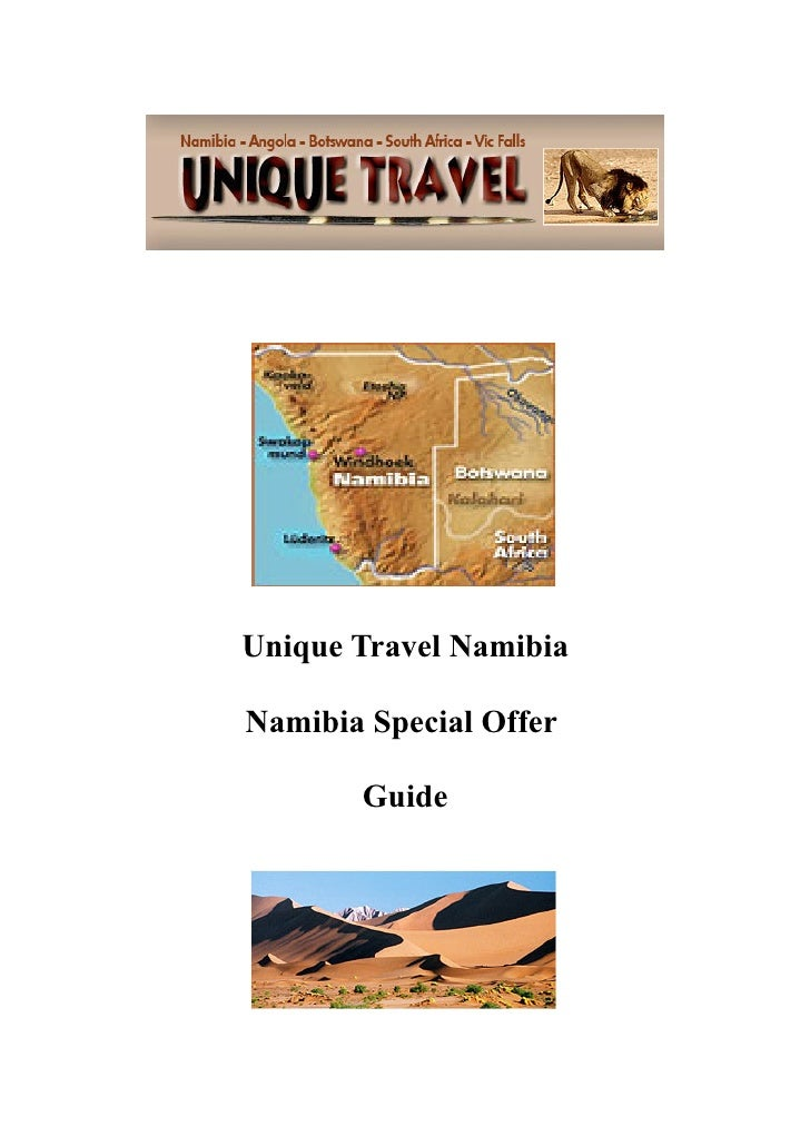 Unique Travel NamibiaNamibia Special Offer       Guide