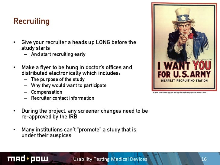 Usability testing medical devices for Usability study template