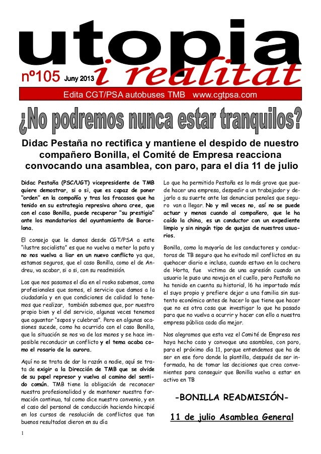 1 Edita CGT/PSA autobuses TMB www.cgtpsa.com Juny 2013Juny 2013Juny 2013Juny 2013nº105nº105nº105nº105 Didac Pestaña (PSC/U...
