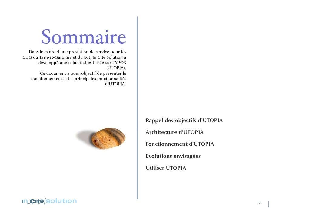 Sommaire<br />Dans le cadre d'une prestation de service pour les CDG du Tarn-et-Garonne et du Lot, In Cité Solution a déve...