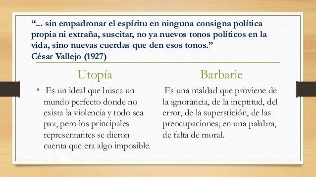Utopía y barbarie Slide 2