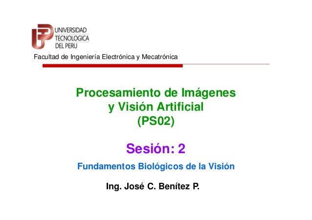Procesamiento de Imágenes y Visión Artificial Facultad de Ingeniería Electrónica y Mecatrónica y Visión Artificial (PS02) ...