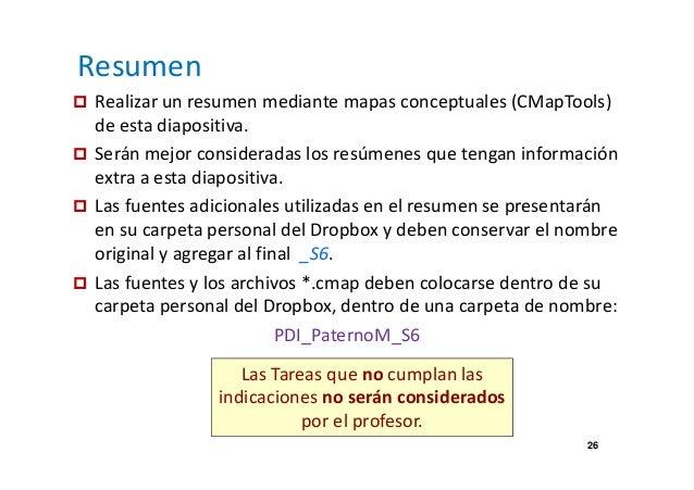 Resumen   Realizar un resumen mediante mapas conceptuales (CMapTools)  26  de esta diapositiva.   Serán mejor consideradas...