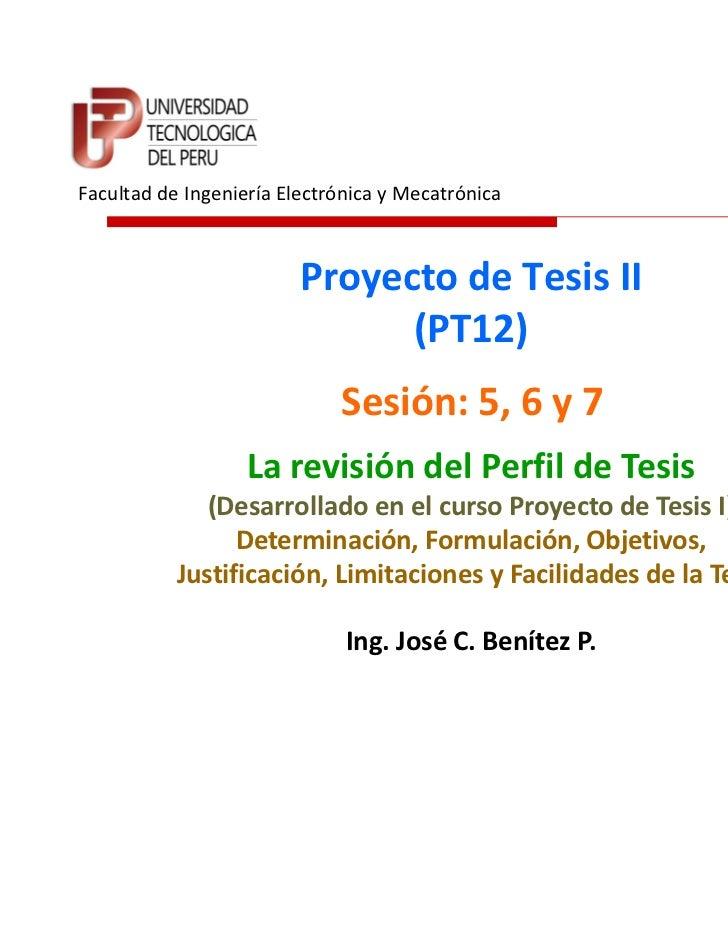 Facultad de Ingeniería Electrónica y Mecatrónica                         Proyecto de Tesis II                             ...