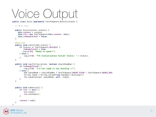 Introduction to Voice I/O on Android