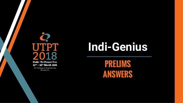 Indi-Genius PRELIMS ANSWERS