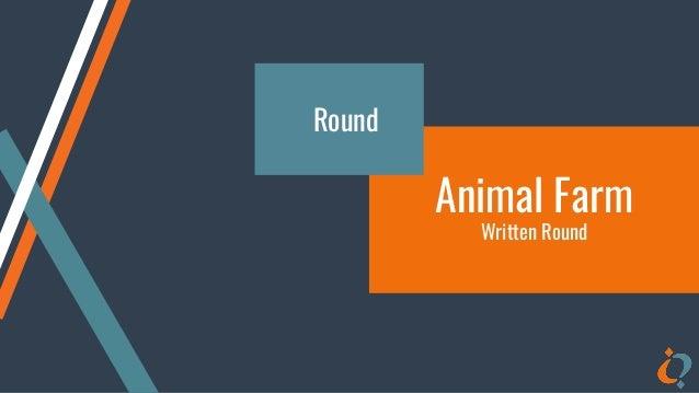 Animal Farm Written Round Round