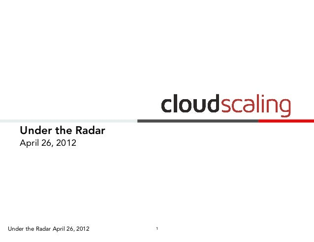 Under the Radar    April 26, 2012Under the Radar April 26, 2012   1