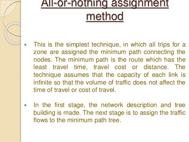 assignment method A method of allocating organizational resources the assignment method is used to determine what resources are assigned to which department, machine or center of.