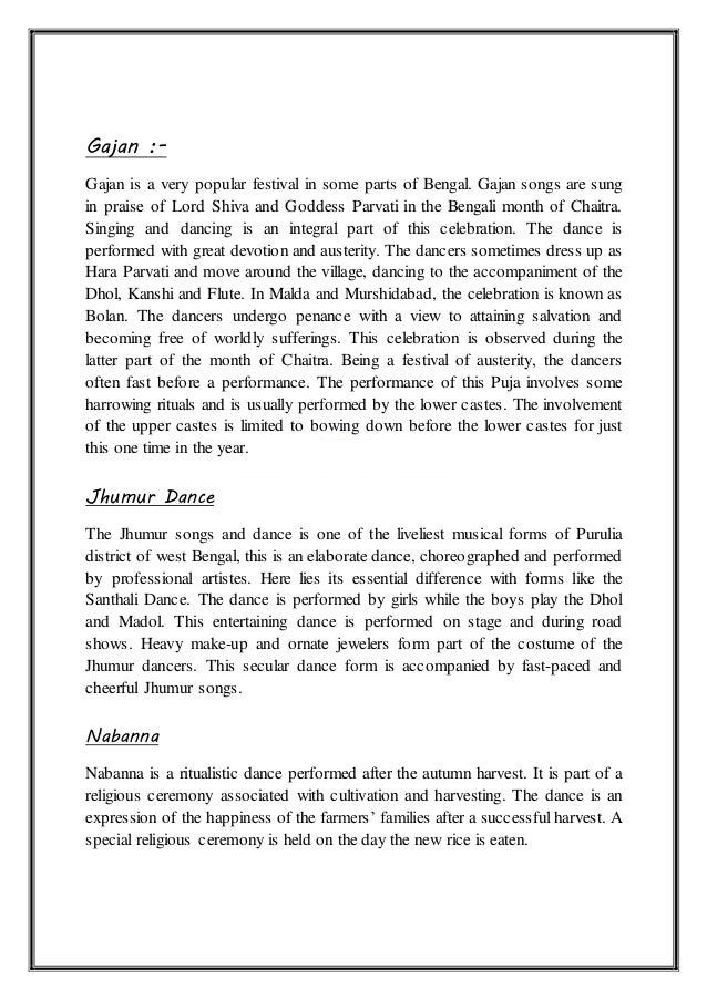 bengali culture essay Bengali culture is considered to be one of the richest cultures in india know more on the cultural heritage of west bengal, through this article.