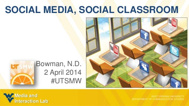 SOCIAL MEDIA, SOCIAL CLASSROOM Bowman, N.D. 2 April 2014 #UTSMW Media and Interaction Lab