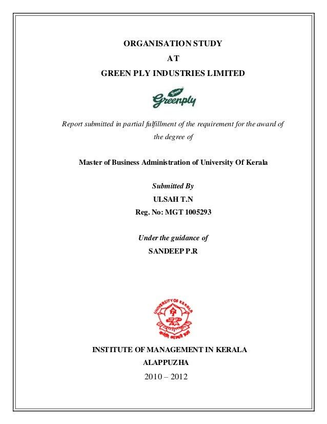 Organisation study of kems