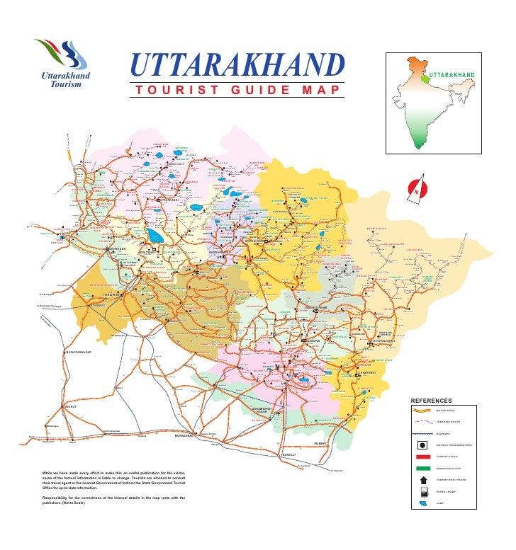 Travel Map of Uttarakhand