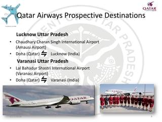 Uttar Pradesh prospective destinations for Qatar Airways a