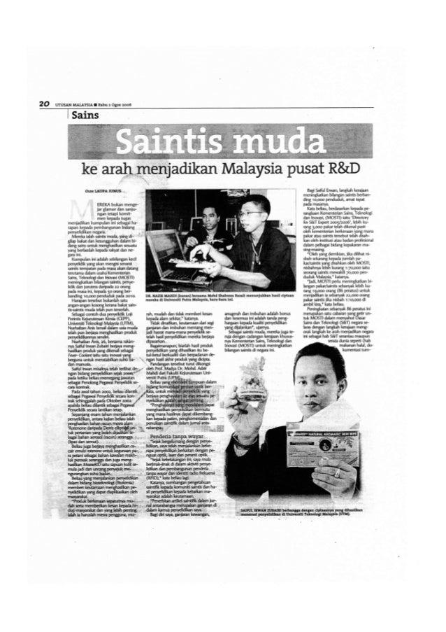 Utusan Malaysia Saintis Muda 2006 Part 1