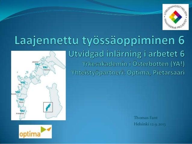 Thomas Fant Helsinki 12.9.2013