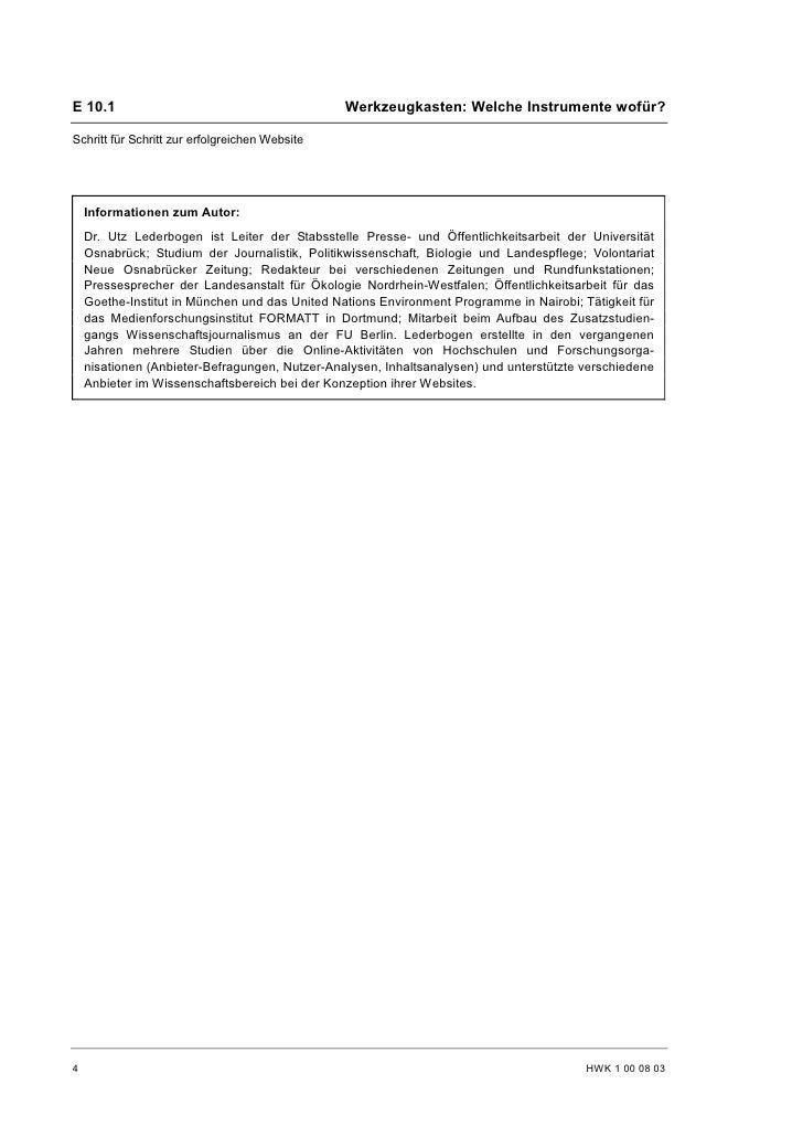 Utz Lederbogen: Die Website als Visitenkarte Slide 3