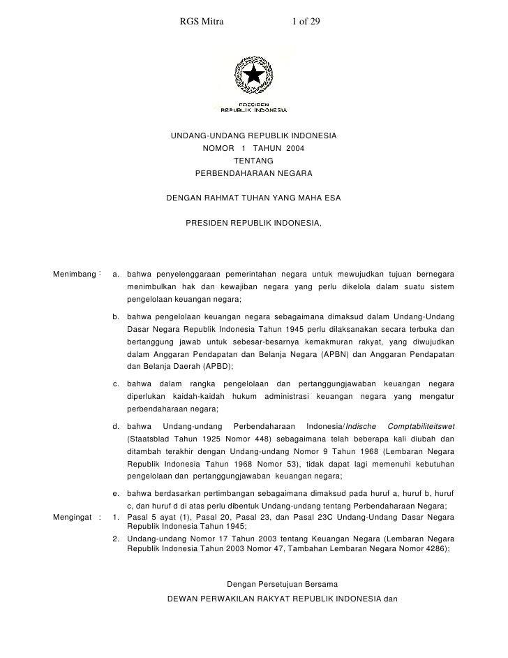 RGS Mitra                    1 of 29                                 UNDANG-UNDANG REPUBLIK INDONESIA                     ...