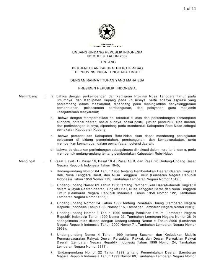 1 of 11                                       UNDANG-UNDANG REPUBLIK INDONESIA                                         NOM...