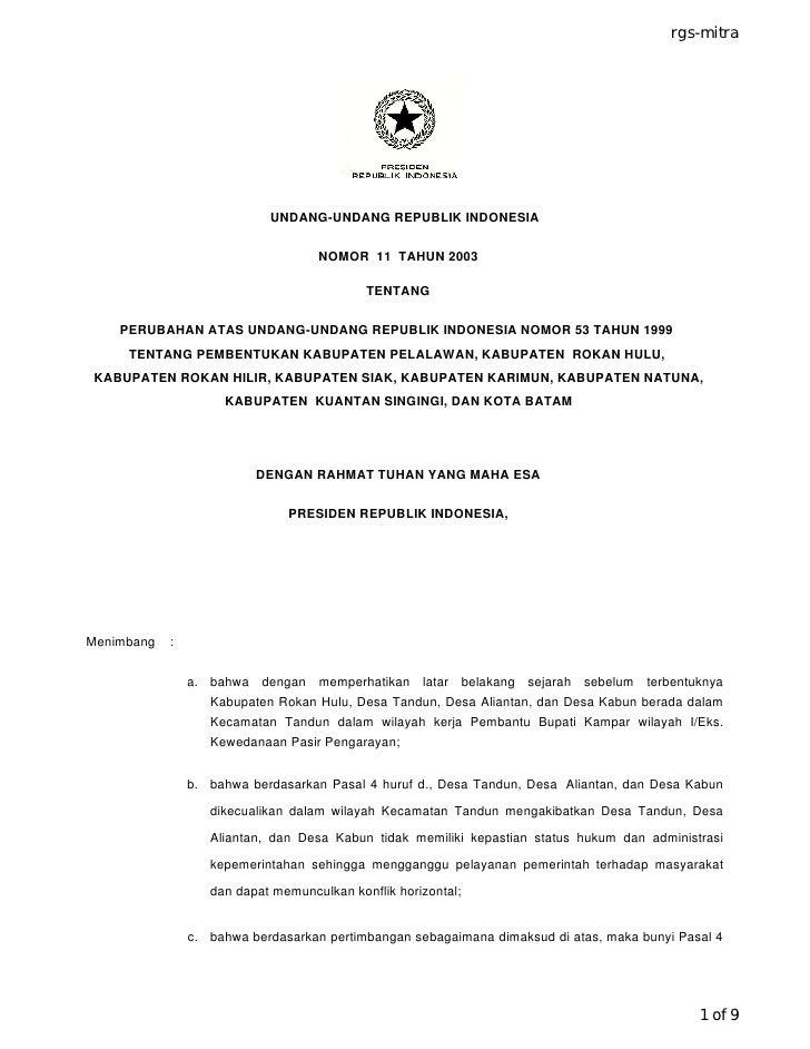 rgs-mitra                                 UNDANG-UNDANG REPUBLIK INDONESIA                                      NOMOR 11 T...