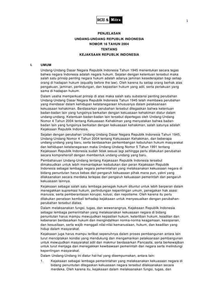 1                                            PENJELASAN                           UNDANG-UNDANG REPUBLIK INDONESIA        ...