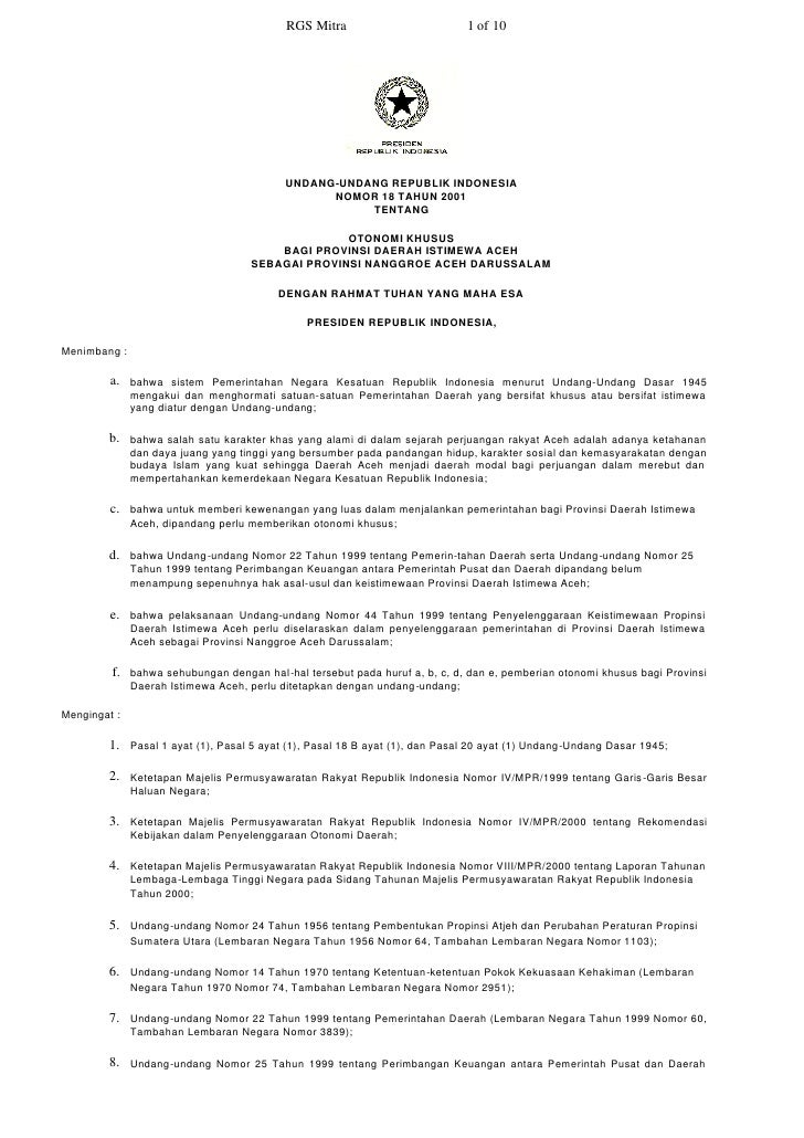 RGS Mitra                          1 of 10                                                 UNDANG-UNDANG REPUBLIK INDONESI...