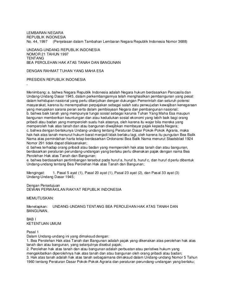 LEMBARAN NEGARAREPUBLIK INDONESIANo. 44, 1997 (Penjelasan dalam Tambahan Lembaran Negara Republik Indonesia Nomor 3688)UND...