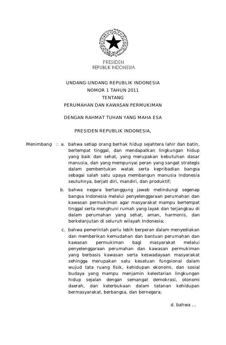 UNDANG-UNDANG REPUBLIK INDONESIA                         NOMOR 1 TAHUN 2011                                TENTANG        ...