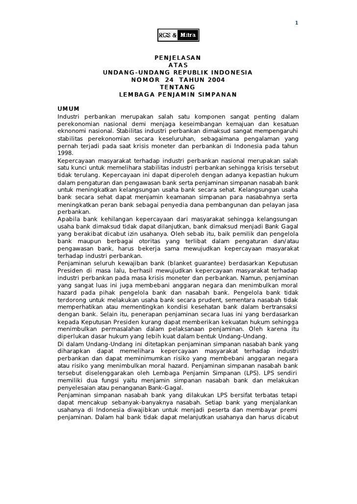 1                              PENJELASAN                             ATAS                UNDANG-UNDANG REPUBLIK INDONESIA...