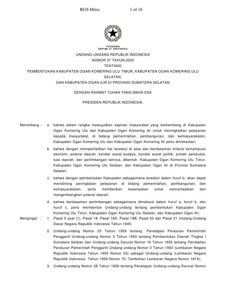 RGS Mitra                     1 of 16                                   UNDANG-UNDANG REPUBLIK INDONESIA                  ...