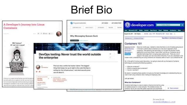 @reselbob reselbob@gmail.com Brief Bio