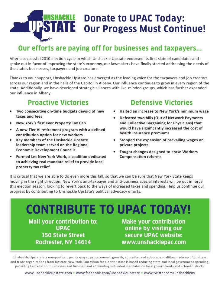 Donate to UPAC Today:                                                Our Progess Must Continue!     Our efforts are paying...