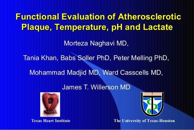 Morteza Naghavi MD, Tania Khan, Babs Soller PhD, Peter Melling PhD, Mohammad Madjid MD, Ward Casscells MD, James T. Willer...