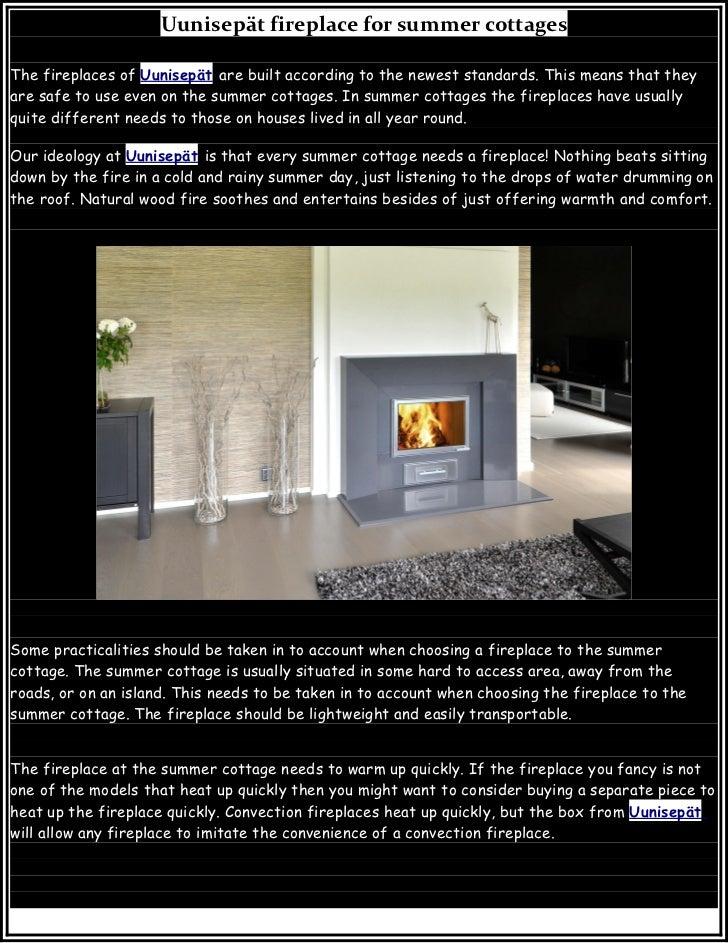 Uunisepät fireplace for summer cottages