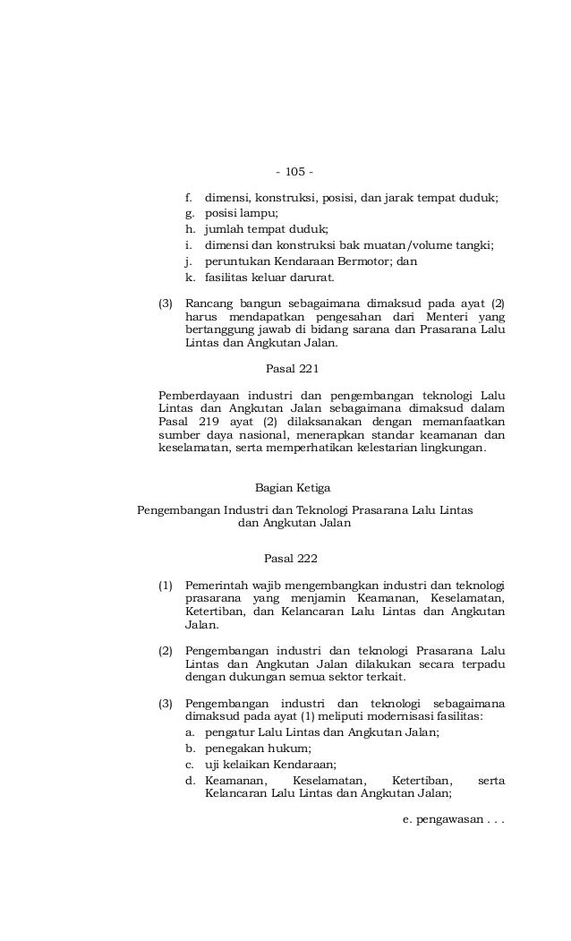 Undang-Undang Nomor 22 Tahun 2009