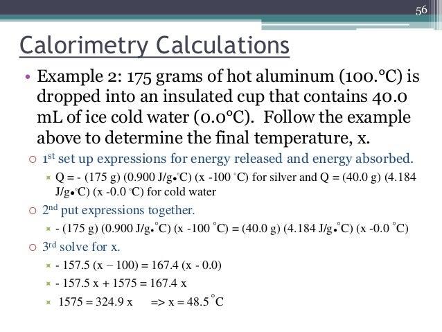 An ice calorimeter determination of reaction enthalpy, Essay