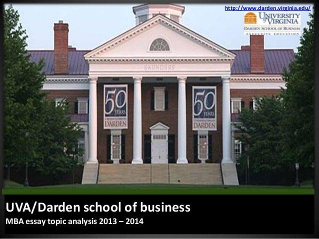 Darden business school essays