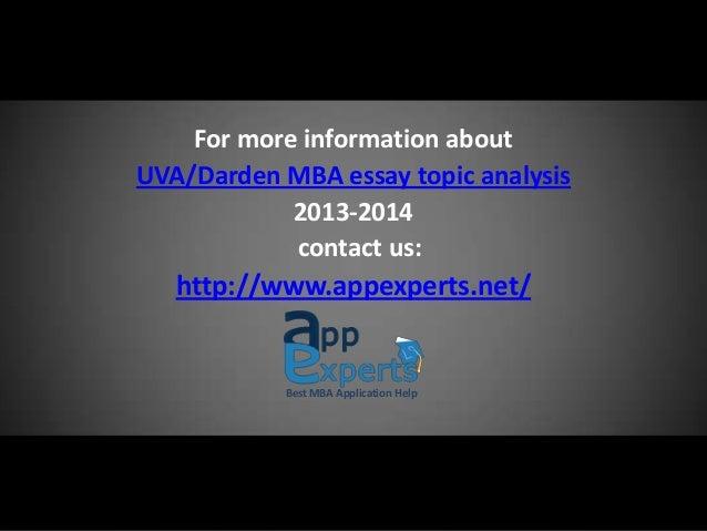 Darden school of business MBA essay topic analysis 2013 – 2014