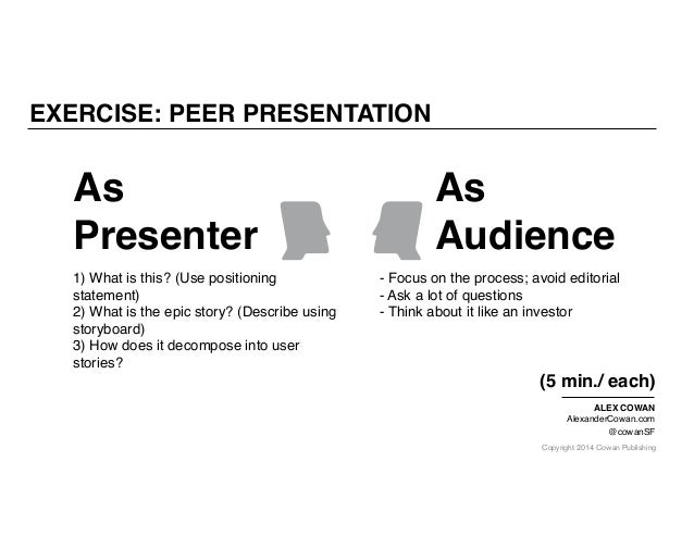 Copyright 2014 Cowan Publishing As Presenter As Audience 1) What is this? (Use positioning statement) 2) What is the epic ...