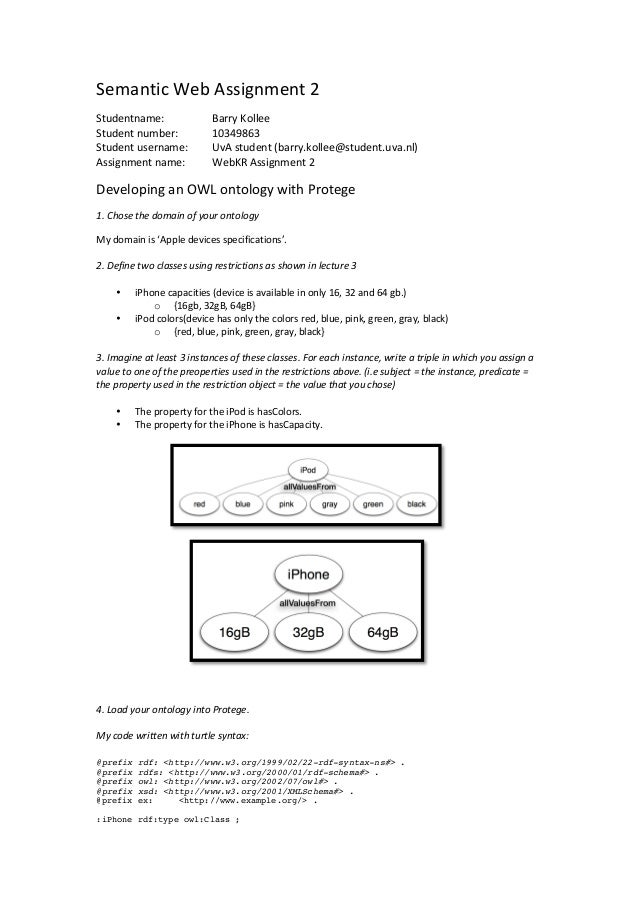 Semantic Web Assignment 2 Studentname:                      Barry Kollee Student number:          ...