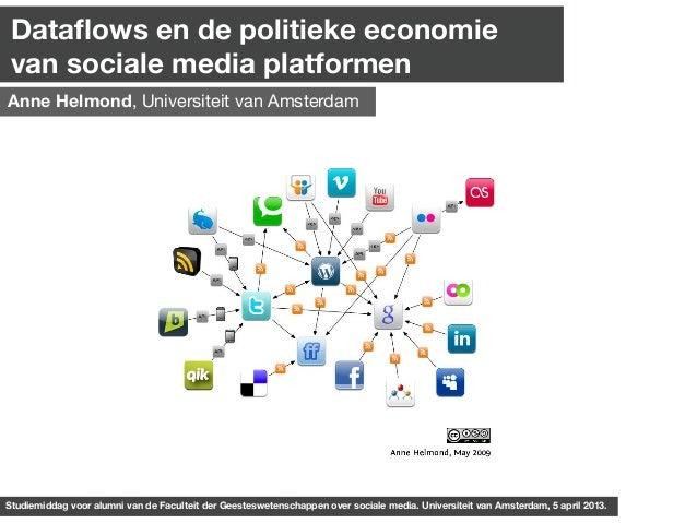 Dataflows en de politieke economie van sociale media platformenAnne Helmond, Universiteit van AmsterdamStudiemiddag voor al...